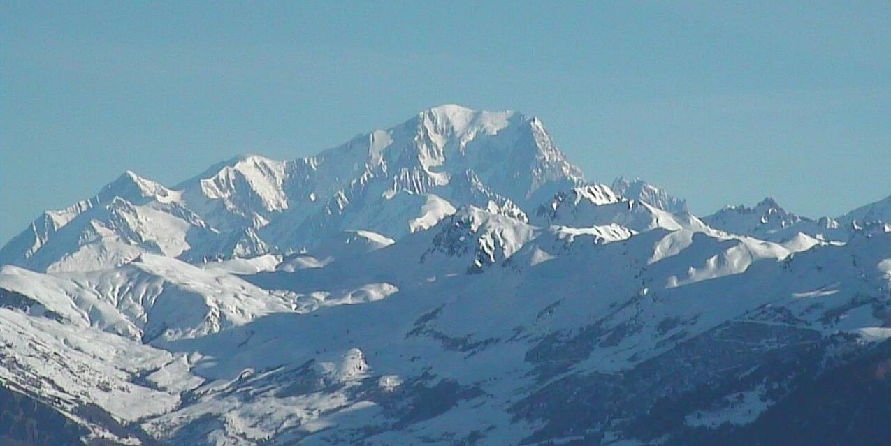 Mont Blanc vu de Valmorel Webcam 23 01 2011