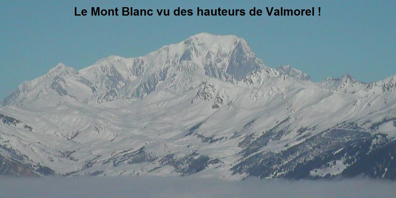 Mont Blanc vu de Valmorel Webcam 01 01 2011