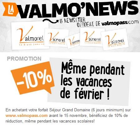 VALMOPASS PROMOTION forfait ski à VALMOREL