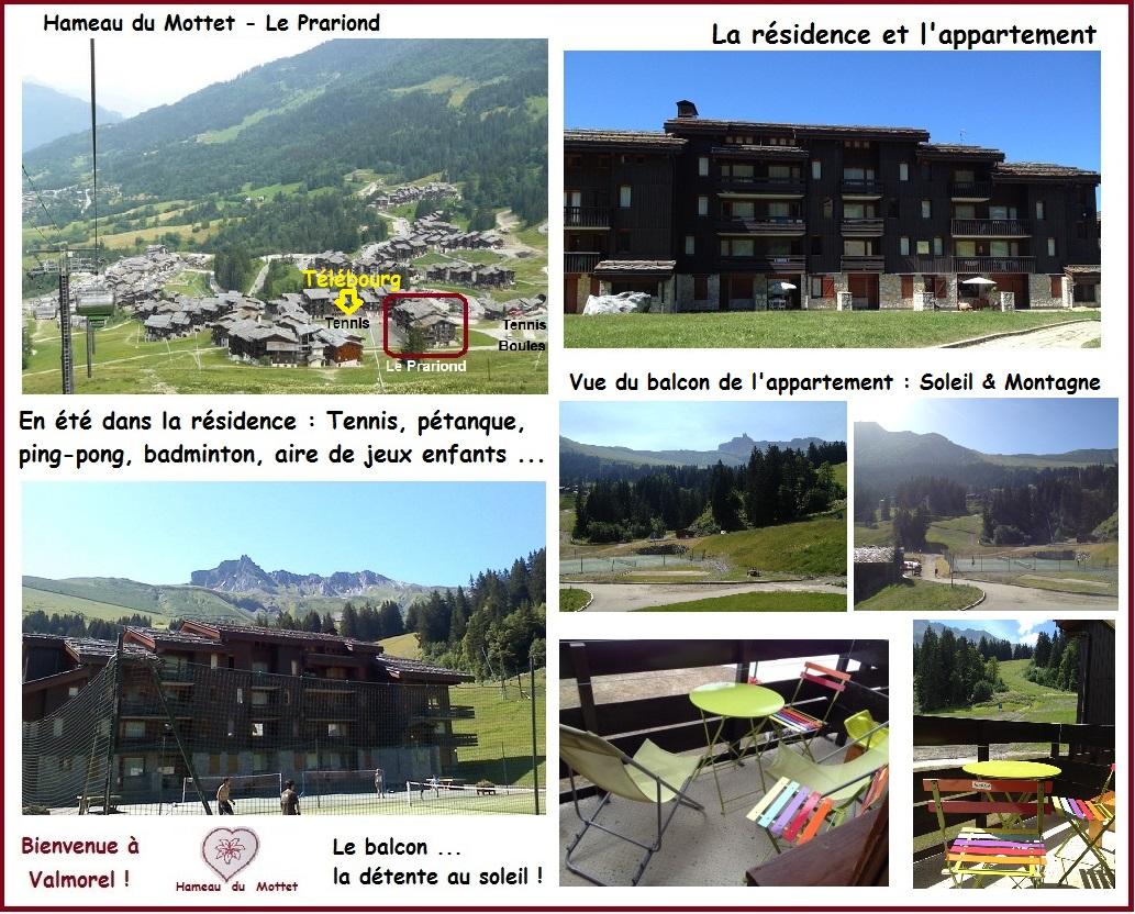 Valmorel en Eté - Résidence Le Prariond et Appartement