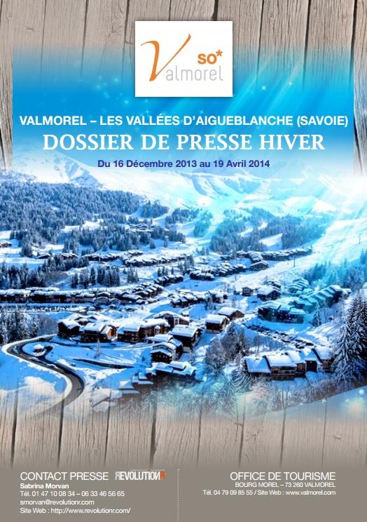 Valmorel Dossier de Presse Hiver 2013-2014